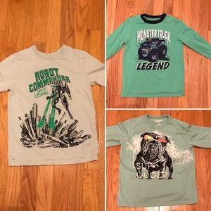 3 Boy's Osh Kosh Original Long Sleeve Tee Shirts 7